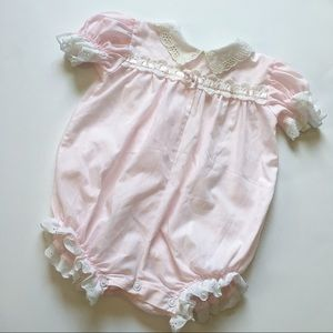 Other - Vintage baby girl lace pink romper💗